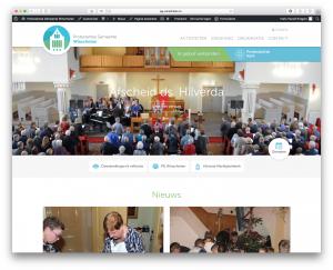 screen shot nieuwe website