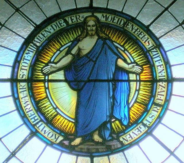 Rondvenster in de kerk van de Prot.Gem.Bovensmilde